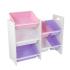 Стеллаж с 7 ящиками для игрушек KidKraft Pastel&White (15471)