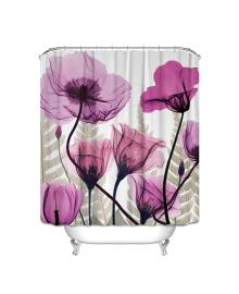 Детская штора для ванной Berni Фиолетовые Маки 180 х 180 см (CMLN)