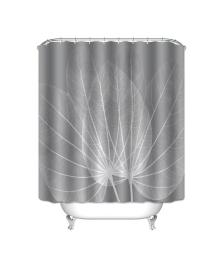 Детская штора для ванной Berni Серый лист 180 х 180 см (CMLN)