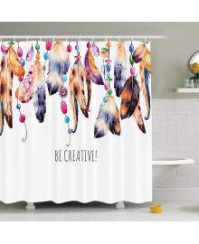 Детская штора для ванной Berni Перья 180 х 180 см (CMLN)