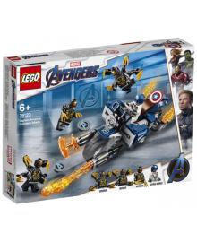 Конструктор LEGO Super Heroes Капитан Америка: Атака Аутрайдеров (76123), 5702016369052