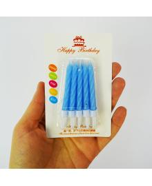 Свечи (голубые) 10 150319-008