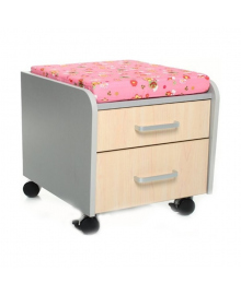 Тумбочка Mealux C2 M/PN Клен Розовая подушка BD-C2M/PN, 2100080416000