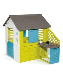 Домик Smoby Радужный с летней кухней