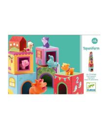 Игра Топанимо - ферма из 6 кубиков+6 животных Djeco DJ09108, 3070900091085