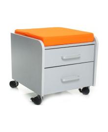 Тумбочка Mealux BD-C2S/ KY Два ящика Оранжевая подушка BD-C2S/KY, 2100080416062
