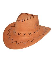 Шляпа ковбоя замшевая (светло-коричневая) 130519-001
