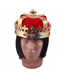 Шапка-корона Царь (красная) 170216-140