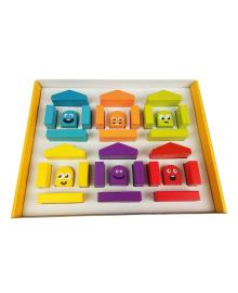 Конструктор Cubica Цветные домики Cubika 14866, 4823056514866