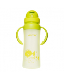Бутылка UZSPACE Go Flash Light green 350 мл