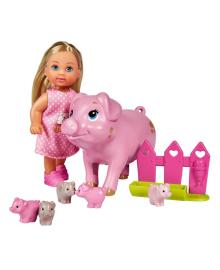 Набор Steffi & Evi Love Эви и свинка с новорожденными поросятами