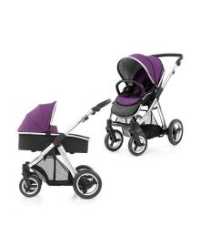Универсальная коляска 2 в 1 BabyStyle Oyster Max Wild Purple/Mirror