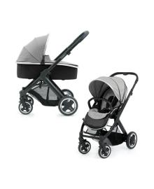 Универсальная коляска 2 в 1 Oyster 2 Silver Mist/Mirror Black BabyStyle