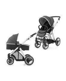 Универсальная коляска 2 в 1 BabyStyle Oyster Max Tungsten Grey/Mirror