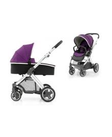 Универсальная коляска 2 в 1 Oyster 2 Wild Purple/Mirror Black BabyStyle