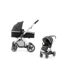 Универсальная коляска 2 в 1 Oyster 2 Tungsten Grey/Mirror Black BabyStyle