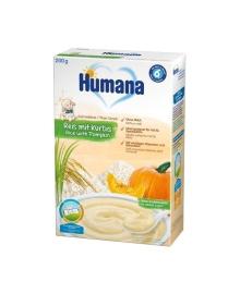 Каша Humana рисовая с тыквой, безмолочная, 200 г