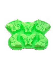 Форма для кексов Fissman Бабочка зеленая BW-6660.6, 5710844066609