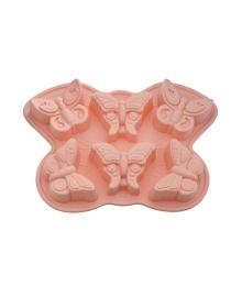 Форма для кексов Fissman Бабочка персикового цвета BW-6661.6