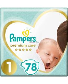 Подгузники Pampers Premium Care Размер 1 Newborn 2-5 кг 78 шт