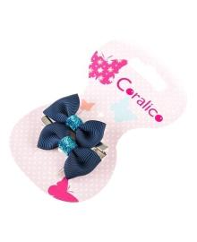 Набор заколок для волос Coralico Blue Bows, 2 шт. 229103