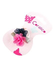 Заколка для волос Coralico Floret синяя/малиновая, 2 шт. 229108