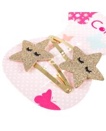 Набор заколок для волос Coralico Golden stars, 2 шт. 229117
