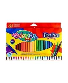 Фломастеры Colorino Fibre Pens, 24 цвета 14625PTR/1