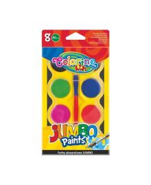 Краски акварельные Colorino Jumbo, 8 цветов 32612PTR, 5907690832612