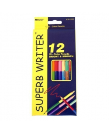 Карандаши цветные двусторонние Marco Superb Writer, 12 шт., 24 цвета 4110-12CB
