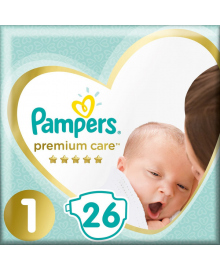 Подгузники Pampers Premium Care Размер 1 Newborn 2-5 кг 26 шт