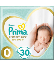 Подгузники Pampers Premium Care Размер 0 Newborn до 3 кг 30 шт