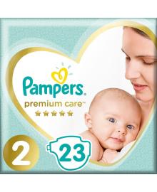 Подгузники Pampers Premium Care Размер 2 Mini 4-8 кг 23 шт