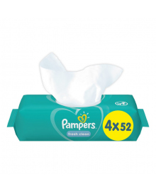 Влажные салфетки Pampers Fresh Clean Quatro 4х52 шт