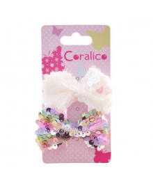 Заколки для волос Coralico Bright Bow 2 шт