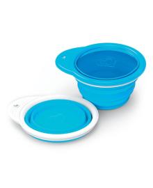 Дорожная тарелка Munchkin Go Bowl Голубая 012377.01, 5019090123778