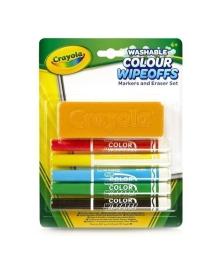 Набор фломастеров Crayola с щеткой для стирания 5 шт