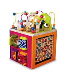 Развивающая деревянная игрушка Battat Зоо-куб