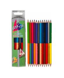 Карандаши цветные Marco Grip-Rite двухсторонние, 12 шт., 24 цвета 9101-12CB