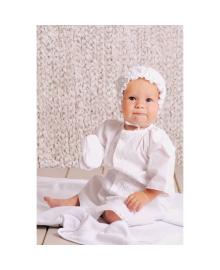 Рубашка Крестильная для мальчика белая  Модный карапуз 03-00584