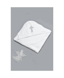 Крыжма махровая для крещения серебро Модный карапуз 03-00300-0
