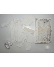 Набор крестильный для малышей молочный Little Angel 9717