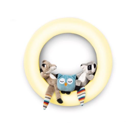 Детский Настенный Светильник-Ночник  с авто отключением и игрушками Fay, Rex и Otis (ZA-WALL-01)