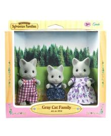 Игровой набор Sylvanian Families Семья серых котиков 5130