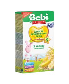 Каша безмолочная Bebi Premium 5 злаков с бананом 200 г