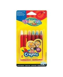 Краски для лица Colorino в карандашах 6 цветов