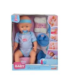Пупс Simba New Born Baby Уход за малышом, мальчик, 43 см