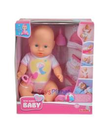 Кукольный набор Simba Пупс New Born Baby с одеждой, 30 см