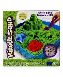 Кинетический песок Kinetic Sand Замок из песка, зеленый