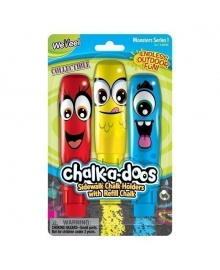 Набор цветных мелков для рисования Scentos Chalk-a-doos, 3 шт. 13695, 8463760136952